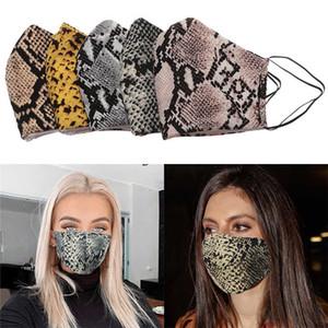Fashion Leopard Grain Masks Serpentine Breathable Mask Men Women Anti Dust Washable Reusable Soft Face Mask