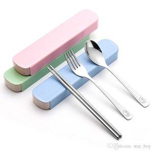 Ensemble à couverts Ensemble de couverts en acier inoxydable Ensemble de 3 couverts (fourchette à cuillère à couteau) Ensembles de couverts de table Smile