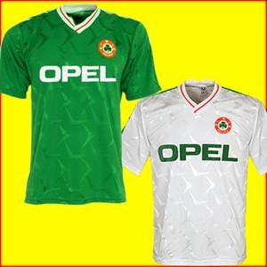 Ireland soccer jersey football shirt 1990 1992 Irlanda retro camiseta de fútbol camiseta de fútbol República de Irlanda jerseys del equipo nacional 90 Mundial kit de fútbol de la camiseta verde