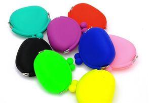 Belle couleur de sucrerie Mini Sac Coin mignon Porte-monnaie silicone sac argent Puse monnaie Porte-monnaie Livraison gratuite ELW006