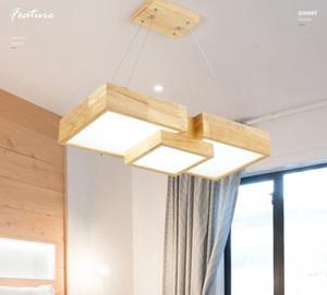 LED Nordic Aydınlatma Avize Ahşap Masa Lambası Ahşap Salon Işık Giyim MYY Yemek Lamba Yaratıcı Katı Wood Asma