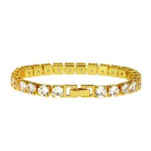 Luxury Micro-Mosaic Zircon Bracelet Couple Simple Tennis Bracelet Fine Jewelry Fashion Men Women Gold Silver Bracelets1