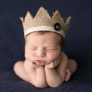 Newborn Photography Props Handmade Baby Boys Girls Fashion Baby Hat Cute Cap Czapki Dla Dzieci Photo Props Crown Headwear