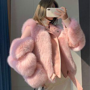 Cappotto donne reali Pelliccia abbigliamento donna a 2.019 pelliccia coreano Moda a lungo Parka reale Abrigo Mujer 9816 YY2239