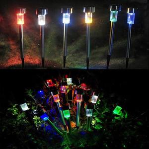 BRELONG LED Luz solar impermeable para césped en el control de tierra Luces de colocación de jardín al aire libre RGB / Blanco, tamaño opcional