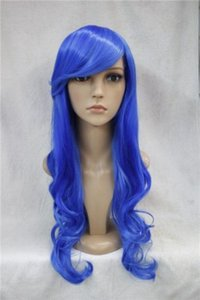 select Style and colour Wholesale Hot Sell Synthetic >shun new Curly resistant Party hair>>One Piece NaMi Fashion Long Cosplay Wavy Wig