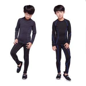 Bambini Kit rashgard strato di base biancheria intima termica di formazione Calcio bambini shirt pantaloni asciugatura rapida sportiva