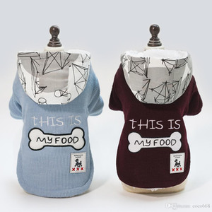 Dogs Hoodies Pet Clothes For Dogs Coat Jackets Cotton Clothes Dogbaby pet dog clothes clothing autumn and winter bones two legs cotton new