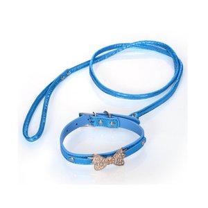 Conjunto de coleira Menina do sexo feminino Rosa Coleiras de filhote de cachorro Azul Preto Cool Dog Pet Supplies Plus Grooming Dog Dog National Pet Day 2018 Cheap Boy