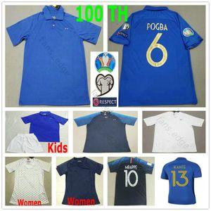 2019 2020 100TH Anniversary POGBA MBAPPE Soccer Jerseys GRIEZMANN KANTE GIROUD DEMBELE Custom Man Woman Kids Youth 100 Year Football Shirt