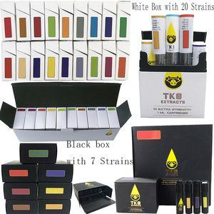 TKO Patronen 0,8 ml 1 ml Keramik Leer Vape Pen Cartridge Verpackung E-Zigarette 510 Thema Glas dickes Öl Dab Pen Wachs Vaporizer Carts