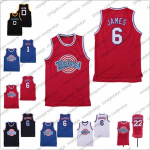 Película Space Jam 6 Yosemite James Tune escuadra monstruos extranjero 0 1 Errores 22 Bill Murray Films jerseys Rojo Blanco Azul Negro S-3XL