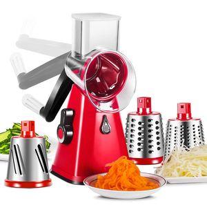 Multifunktionshandwalzenschneider Drehreibe manuelle Schneidemaschine vegetable spiral potato mandoline Slicer Küchenhelfer
