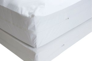 Free Shipping Size 160X200cm Smooth Allerzip Waterproof Mattress Encasement Cover With Zipper Box Spring For Bed Bug