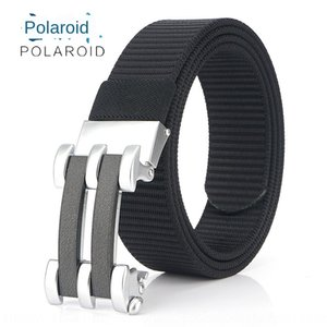 Thickened Casual pants tank pattern nylon canvas sports outdoor canvas belt automatic buckle youth students' casual pants belt