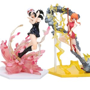 16cm de uma figura Nico Flower Ver. Nami Figure One piece Anime Collectible Model Toys Y200421
