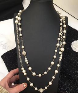 Новый стиль жемчужные ожерелья серии из бисера Длинные ожерелья моды ожерелье для женщин Свадебные украшения для подарка