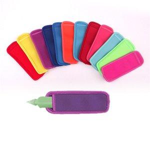 Neoprene Popsicle Holder Antifreezing Pop Ice Sleeve Freezer Solid Sleeves 18cm*6cm Summer Ice Cream Beach Kitchen Tools For Kids New C7909