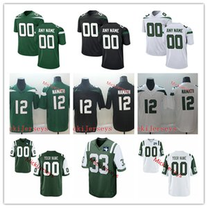 Coutume 2019 style de New York Football Jersey Cousu 11 Robby Anderson12 Joe Namath 33 Chris Ivory 24 Darrelle Revis 28 Curtis Martin Jersey