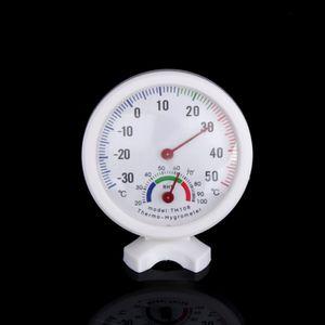 Forma redonda Minihilitand TH108 Temperatura analógica interior Medidor de humedad Hygrómetro -30 ~ 50 Celsius Grado H Mini Humedad Termom