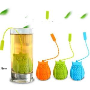 البومة الشاي مصفاة لطيف سيليكون مضطرب مصفاة أكياس الشاي الغذاء الصف الإبداعية فضفاضة أوراق الشاي infuser فلتر الناشر IIA26