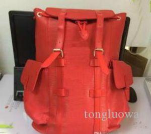 2018 nueva mochila de color rojo negro llegado para mujer para hombre de la marca de lujo de los bolsos multifuncionales bolsas de alpinismo al aire libre paquetes de viaje # 9