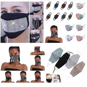 bateau DHL Fashion Party Masque Masques strass mascarade visage cristal Face Party Veil 2020 Bijoux New Style Party Club Masque WX20-7