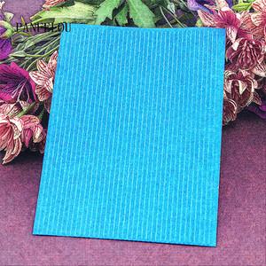 Plantilla de plástico caliente Plantilla de reloj de rayas Craft Craft Fabricación de la tarjeta de papel Album Decoración de la boda Clip en relieve carpetas