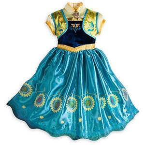 Королева принцесса платье девушки Косплей одежда Performance Ice Queen платье кружево платье партии на Рождество Хэллоуин Косплей Prop GGA3405