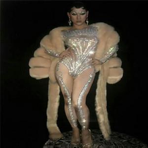 S34 Ballroom dança sensuais trajes dj espetáculo usa mulheres vestido jumpsuit dançarina bodysuit desempenho partido roupa pólo usa cantor disco