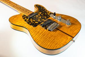 Guitarra New Prince HS Anderson guitarra Madcat Mad Cat âmbar amarelo Flame Bege Top elétrica Leopard Pickguard clássico corpo negro Encadernação