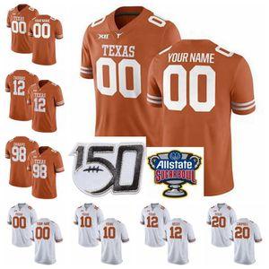 تكساس ونغورن NCAA كرة القدم الفانيلة ايرل توماس III جيرسي دانيال الشباب Antwuan ديفيس مالك جيفرسون ميكيلي تومبسون مخيط مخصص