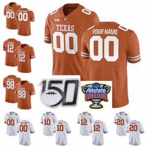 Texas Longhorns NCAA Football maglie Earl Thomas III Jersey Daniel Giovane Antwuan Davis Malik Jefferson Mykkele Thompson personalizzato cucito