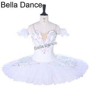 Mädchen Ballerina Ballettberufs Tutu Weiß SwanBT9257 Klassisches Ballett Bühnenkostüm Pancake Platter Tutu-Kleid-Mädchen