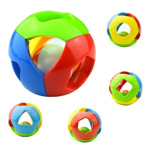 Soft Plastic Baby toys fun small jingle bells ball circle development baby intelligence training grip ability toys Bed Bells