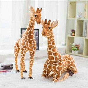60-120cm Simulation girafe en peluche Jouets mignon Poupées animaux en peluche douce girafe Poupée de haute qualité cadeau d'anniversaire pour enfants Pour