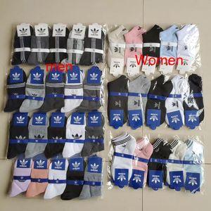 DHL Luxo longa de algodão Socks Men respirável meias marca de alta qualidade sockings Estilo Mens Malha Famoso meias listradas Branco Preto Cinzento