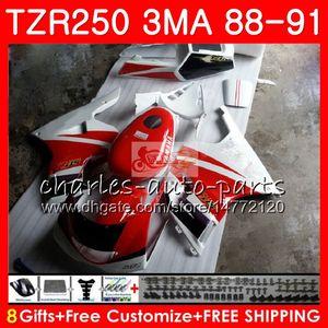 Corpo rosso lucido Per YAMAHA TZR250 3MA TZR 250 bianco RS RR YPVS TZR250RR 118HM.73 TZR-250 88 89 90 91 TZR250 1988 1989 1990 1991 Kit carene