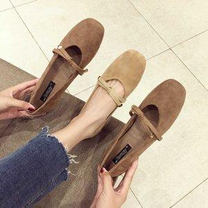 Горячая распродажа-2019 грубая одиночная обувь осень все матч фея нежный ветер студент с Мэри Джейн обувь женщина