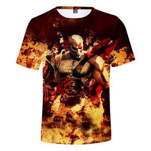 New Hot God Of War 3D Print Character T shirt Men Women 2018 Casual Cotton O-Neck Hip hop streetwear T-shirts Tops Dropshipping
