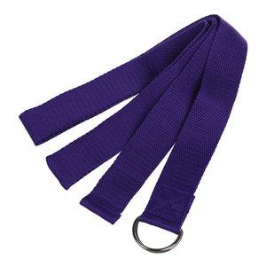 Long Yoga Stretching Belt Fitness Training Strap Belt - Purple