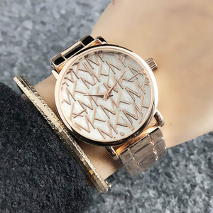 Marken-Quarz-Armbanduhr für Frauen Mädchen michael Art Metallstahlband-Uhr-M64