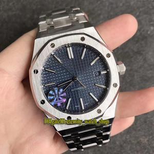 Топ-версия JF V5 Royal Series 15400ST.OO.1220ST.03 синий циферблат Cal.3120 автоподзаводом Мужские часы 904L стальной корпус ремешок Спортивные часы