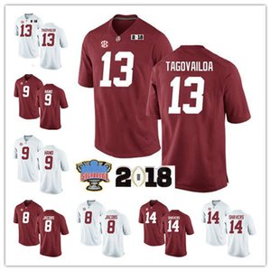 NCAA Alabama Crimson Tide Forrest Gump fútbol jerseys Tony Brown Joshua Jacobs Da Shawn mano Da'Ron Payne Nick Saban Campeonato Jersey