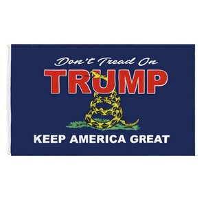 Trump Keep America Great 3X5 Snake Flags,90% bleed 68D Polyester Banners Advertising Fabric , Outdoor Indoor
