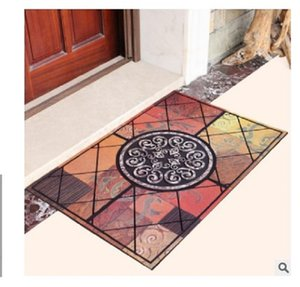 2020 hot sale Carpets European type rubber flocking entrance mat Villa mat Entrance mat plastic doormat Antiskid for entering 45*75cm