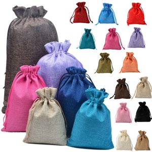 Drawstring bags, Linen cloth bags, imitation Linen jewelry packing, jewelry gift bag, multi-color small cloth Storage Bag 6022