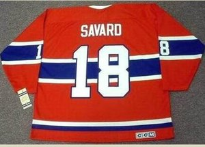 Custom Men Youth women Vintage #18 SERGE SAVARD Montreal Canadiens 1969.1979 CCM REAL Hockey Jersey Size S-5XL or custom any name or number