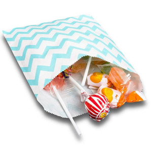 Wedding Candy Bar Bags paper candy bags Cake Storage Snack Gift Kids for Buffet Paper Bag Striped Polka Dot Chevron 13x18cm Fast Shipping