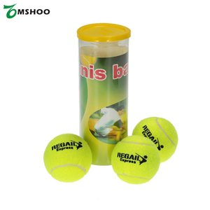 2.6 Inç 3-Balls Eğitim Tenis Topu Yüksek Elastik 65mm Çap Lateks Tenis Topu Köpek Eğitim Retriever Doğa Kauçuk Topları
